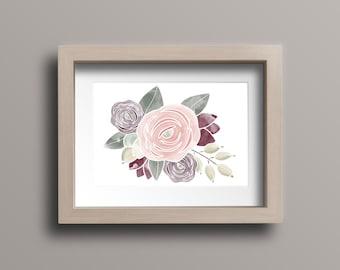 Flower Print, 8x10 / Home Decor / Wall Art / Rustic Decor / Farmhouse Decor / Horizontal Print