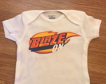 Blaze on baby bodysuit // newborn blaze on bodysuit // phish lyrics bodysuit