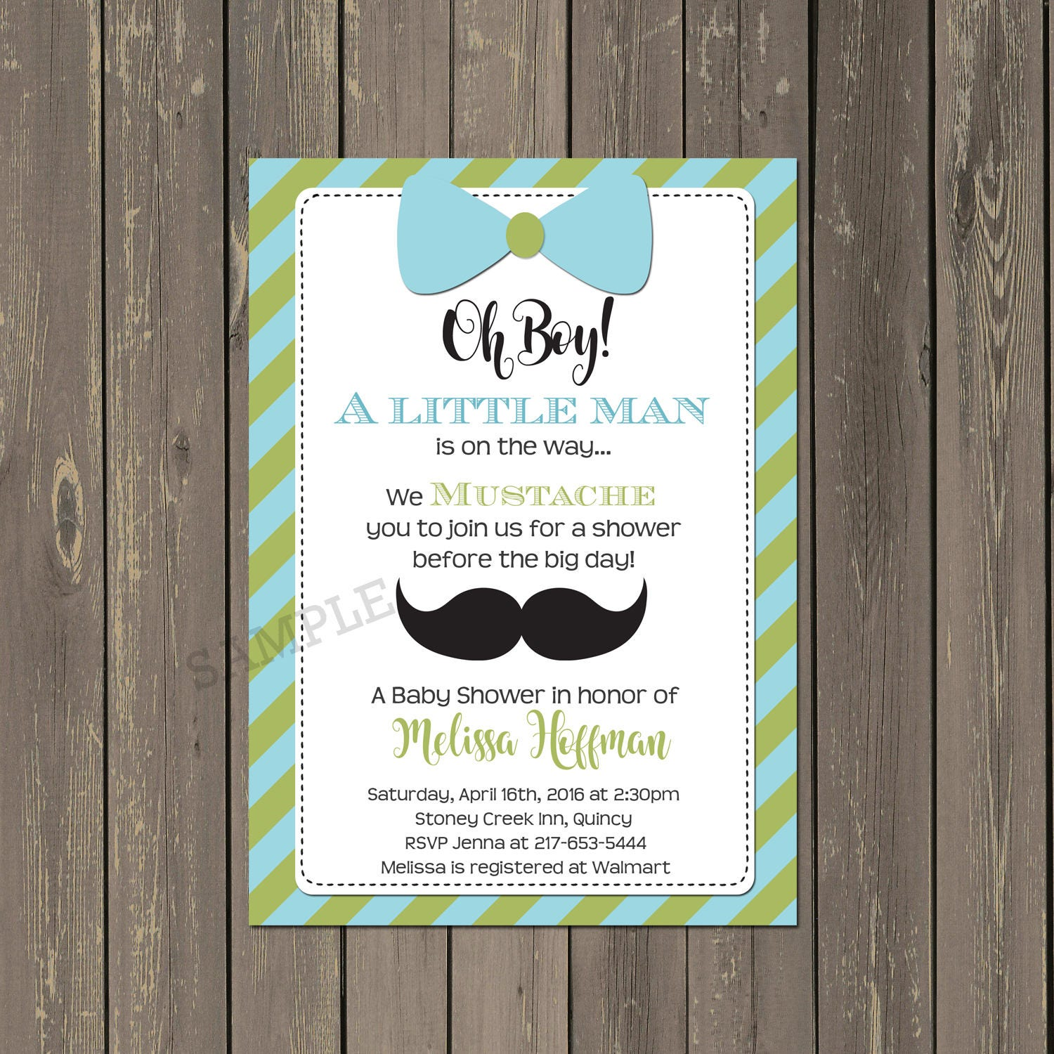 Little Man Baby Shower Invitation Little Man Shower Invite