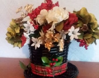 Christmas Centerpiece, Christmas Candle Holder, Table Centerpiece, Floral Centerpiece, snowman centerpiece