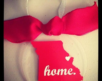 "Personalized State Ornament - ""Home"""