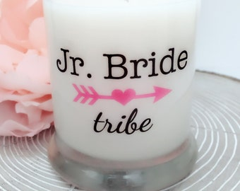 NEW Jr. Bride Tribe Bridesmaid Candle~Bridesmaid Gifts~Bridal Shower Favors~Maid of Honor Gift~Matron of Honor Gifts~Bridesmaid Proposal Box