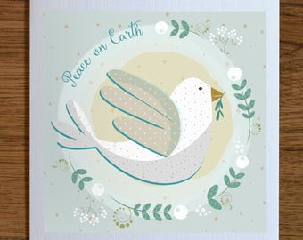 Peace on Earth Christmas cards - Pack of 5 - Holiday Cards