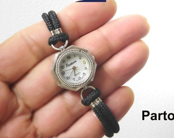 Sterling Silver PARTOVI Watch in Original Box,Japan movement, Never Worn, Warranty, Shell Dial, New Battery + Extra, Free shipping in USA