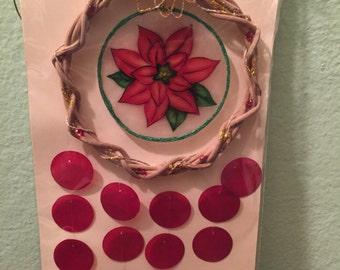 Red Flower Suncatcher Decoration