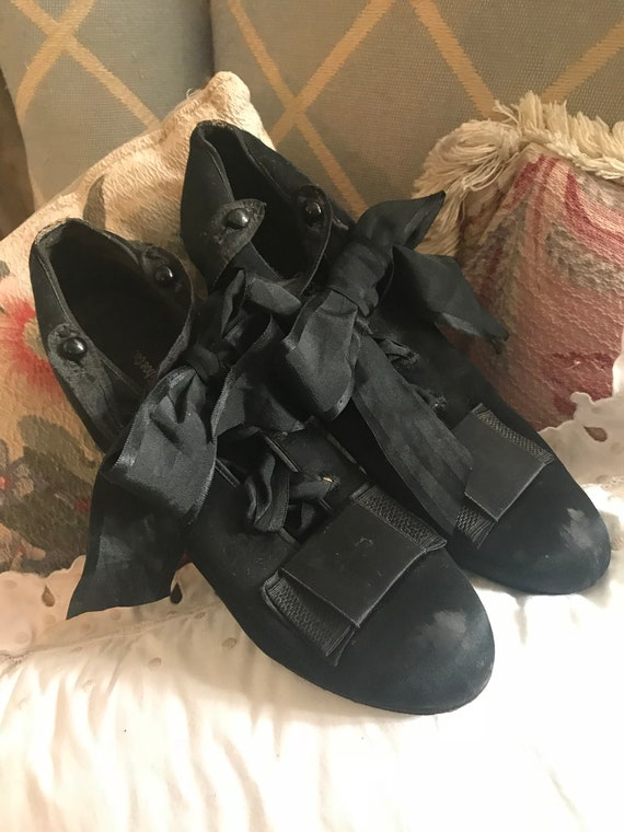 Shoes Ties Black Ribbon Antique Silk ZxEwHIS