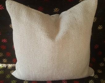 """Kilim Pillow, 18""""×18""""inches, Decorative Kilim Pillow, Pillow Cover, Throw Pillow, Cushion Cover, Kilim Pillows, Pillow Covers, Aztec, Decor"""