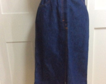 Vintage 1980's St Michael Denim Skirt New with Tags