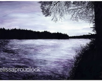 "Giclee Print: ""Kenneth Lake, Algonquin Park"" using Baco Noir"