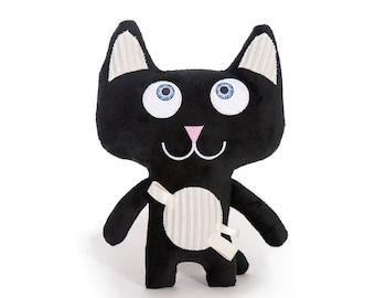 Ninja Kitty – Black, Soft toy, Cuddly toy, Handcrafted