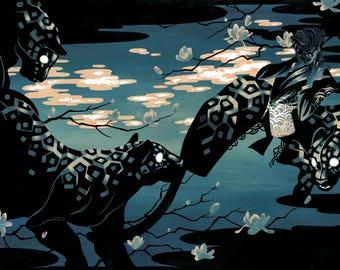 "PREORDER - Illustration Print ""Honey"" - Digital Lazer Print from Original Gouache Painting"