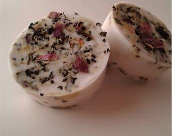 Natural Rose Orange Soap, Exfoliating, Nourishing