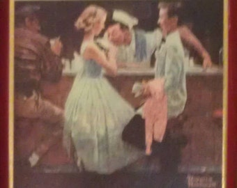 The Saturday Evening Post Norman Rockwell After The Prom Metal Tray