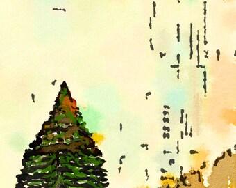 Tomoe River Insert - Fir Tree Zen - Travelers Notebook Insert