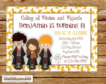 Harry Potter Invitation | Harry Potter Birthday Invitation | Witches and Wizards Invitation | Wizards Birthday Party | Harry Potter Invite