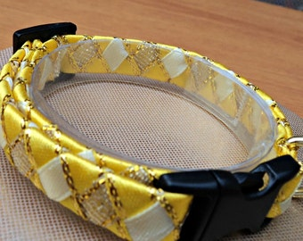 Small Cat Collar / Kitten Collar Yellow Sunshine