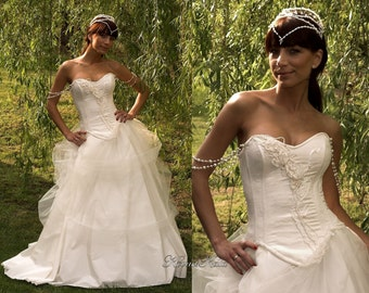 Delightful Elegant Traditional and Modern Corseted Wedding Gown - Aphrodite.