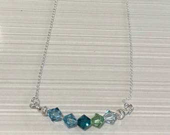 Sterling Silver and Swarovski Crystal Necklace - FREE SHIPPING