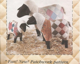 Country Sheep, Sewing Pattern, Patch Press, Patchwork, Vintage 1983, Craft Pattern, Sewing Supplies, Country Decor, Stuffed Sheep, Gift Idea