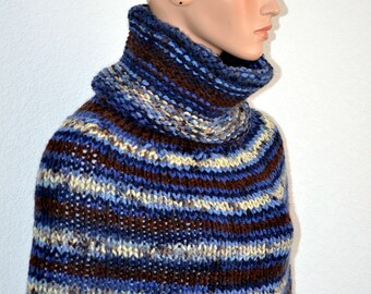 Hand Knit Poncho/ Knitted Poncho/ FREE shipping in USA only
