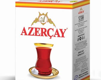 Azercay first quality flavored bulk black tea with bergamot, 100 g package