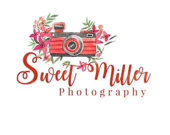 Photographer Logo |  Photography Logo | Photographer Watermark | Camera  Watermark | Bright Bold Logo |