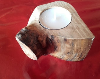 Wooden Tea Candle Ideal Gift