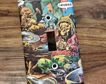 Custom Light Switch Cover Plate, Single Toggle Switch Cover, Comic Book Art, Kids Room Decor, Cosplay, Comic-Con, Home Decor