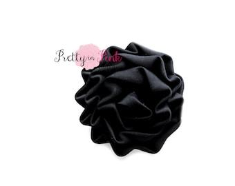 Black Isabella Collection Ruffled Rosettes- Choose Quantity- Rolled Rosettes- Rolled Rosettes- Rosettes- Flower- Supply- DIY Headband