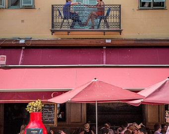 Cafe in Nice, France Photography, Nice Style, South of France, Summer in France, Fine Art Print, Cote d'Azur, Wall Art, France Style