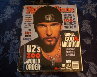Rolling Stone, The Edge/U2, Vintage Magazine Oct 14, 1993