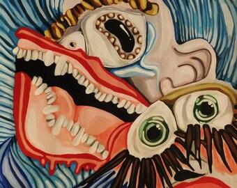 Shocked-9x12 Original Acrylic Painting