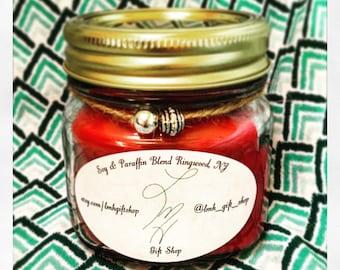 Raspberry Vanilla 8oz Soy/Paraffin blend