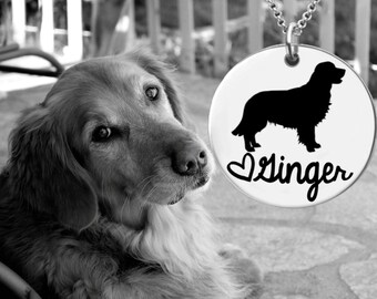 Golden Retriever Necklace | Golden Retriever Jewelry | Personalized Gifts | Korena Loves