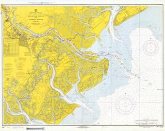 Tybee Roads - Savannah Map 1970