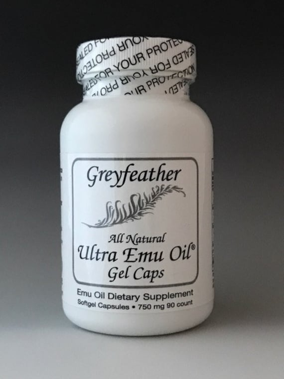 Greyfeather Ultra Emu Oil® Gel Caps