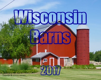 2017 Wisconsin Barns Wall Calendar, Barn Calendar, 2017 Wall Calendar, Wisconsin Barns, Barn Photography