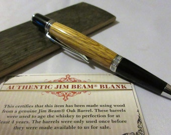 Jim Beam barrel pen