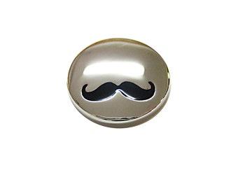 Shiny Circular Hipster Mustache Magnet