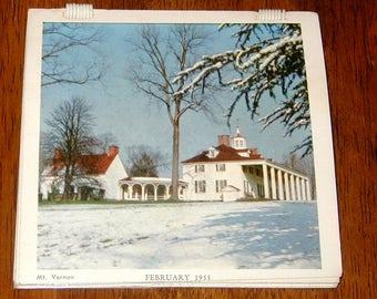 1955 calender photos of historic sites vintage original washington DC
