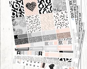 XOXO || Valentines, Love, Girly, Fashion, Planner Stickers, FULL KIT