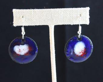 Enameled Copper Earrings (041917-024)