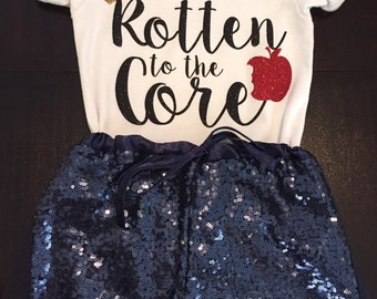 Disney descendants inspired, rotten to the core shirt