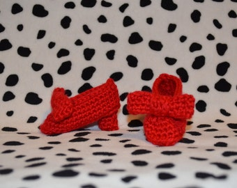 Crochet Pattern PDF for newborn high heeled shoes