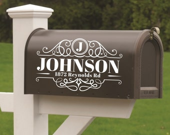 Mailbox Decals, Mailbox Numbers, Mailbox Address Decal, Custom Mailbox Decal, Mailbox Monogram, Mailbox Vinyl Stickers