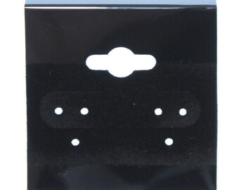 "Hanging Earring Cards Black 1-1/2"" Plain (Pkg of 100)  (DER700)"