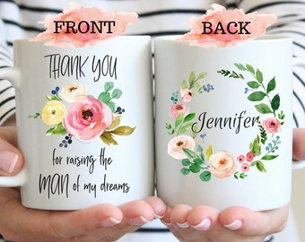 Thank You For Raising The Man Of My Dreams Mug, Mother Of The Groom Gift, Mother-in-Law Gift Idea, Mother Of The Groom Mug Gift, Bride Mug