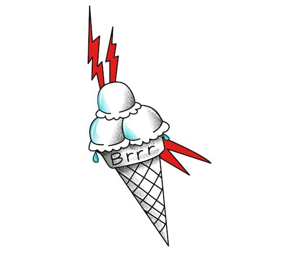 Gucci Mane helado tatuaje temporal