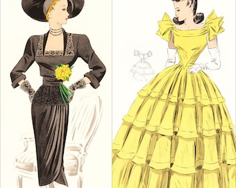 PDFs of vintage 1948 sewing pattern system - instant download