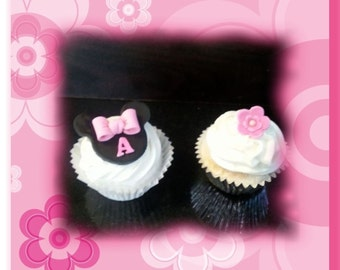 Minnie inspired cupcake toppers